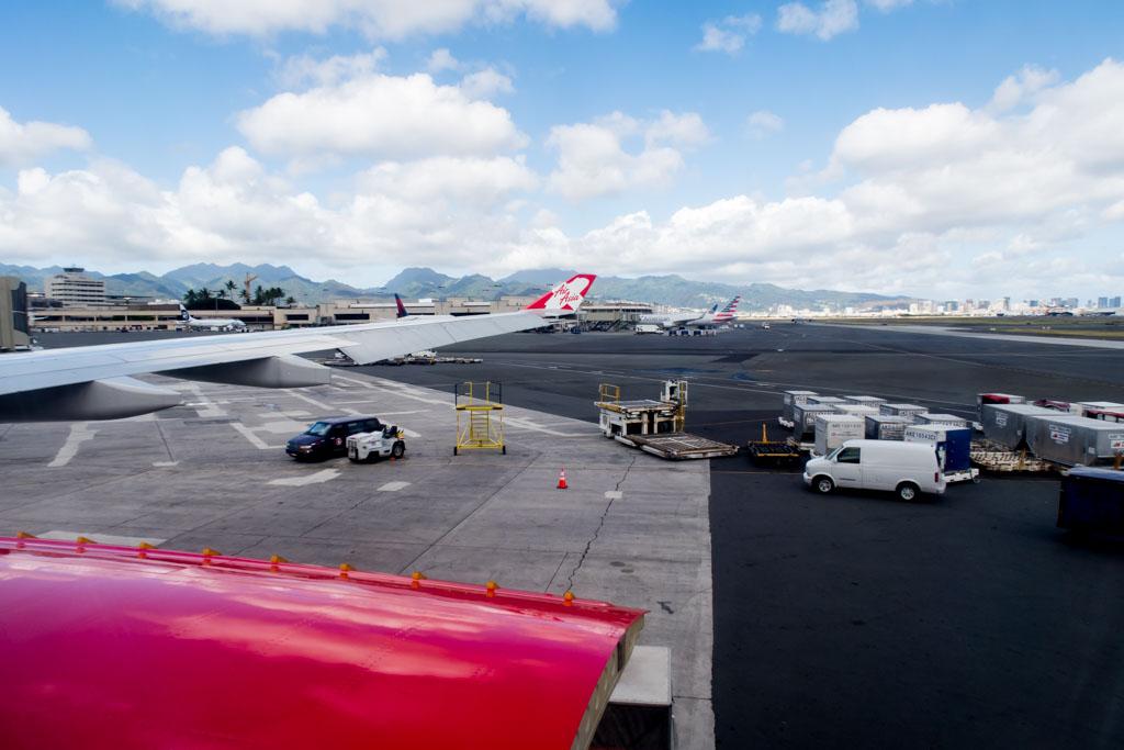AirAsia X Wingview at Honolulu