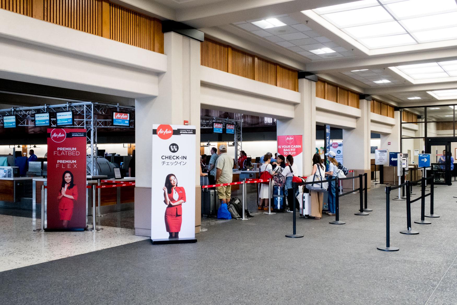 Honolulu AirAsia X Check-in Area
