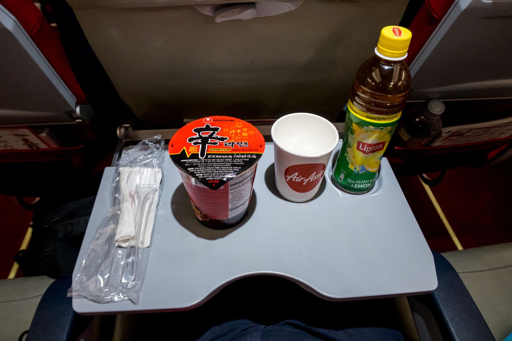 AirAsia X Cup Noodles