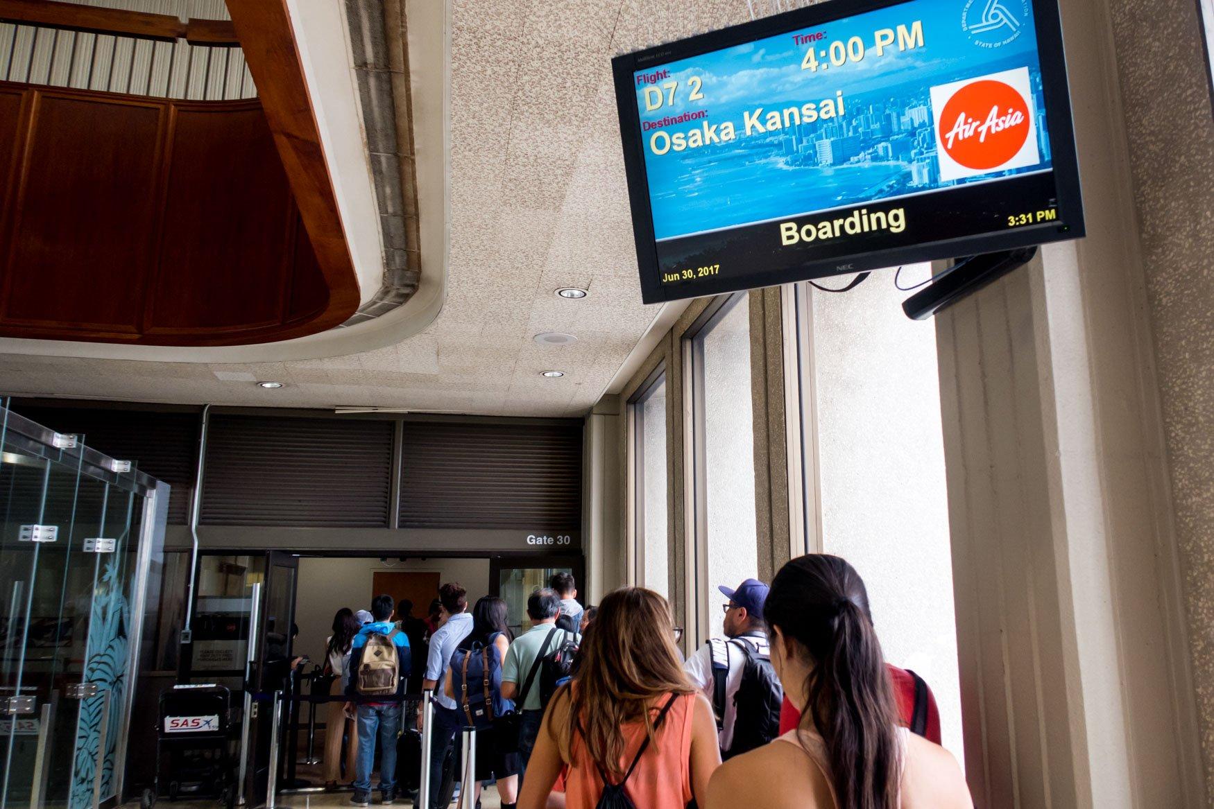 AirAsia X Boarding in Progress at Honolulu