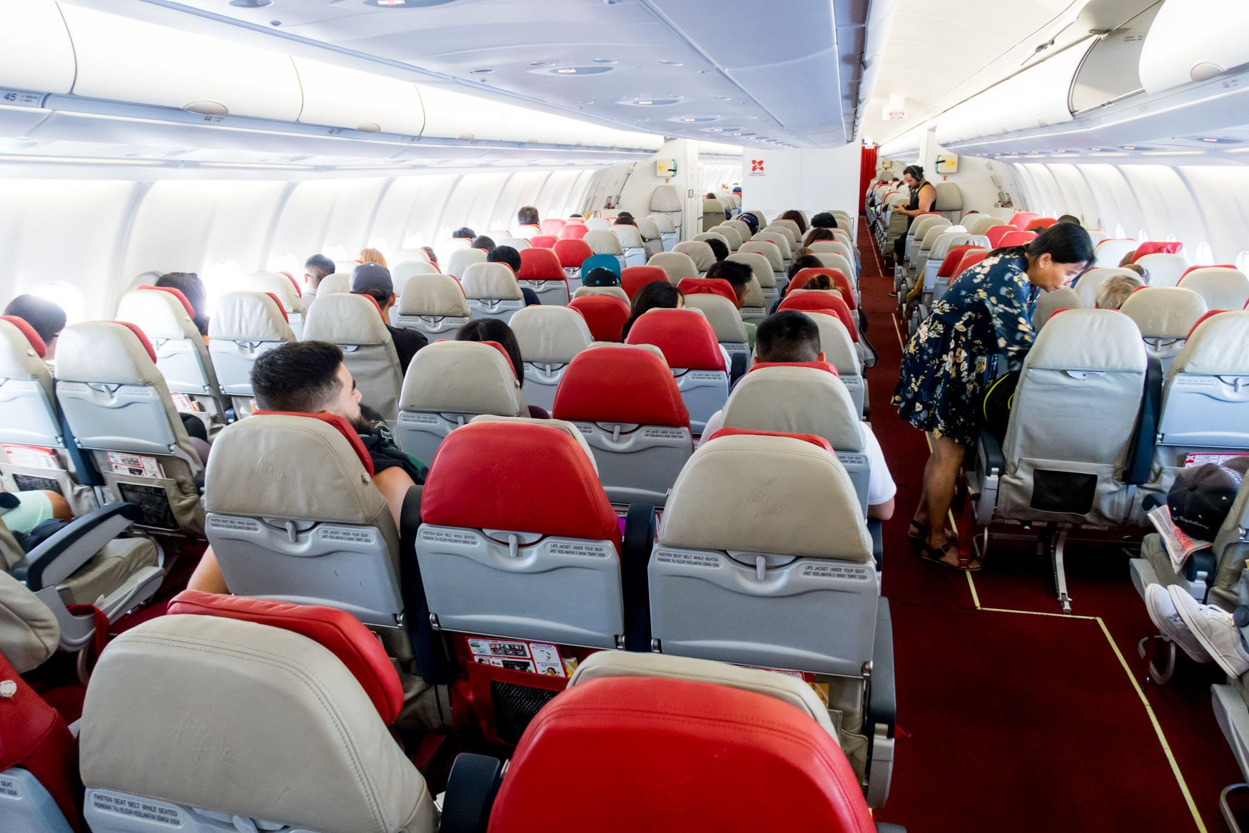 AirAsia X Economy Class Cabin