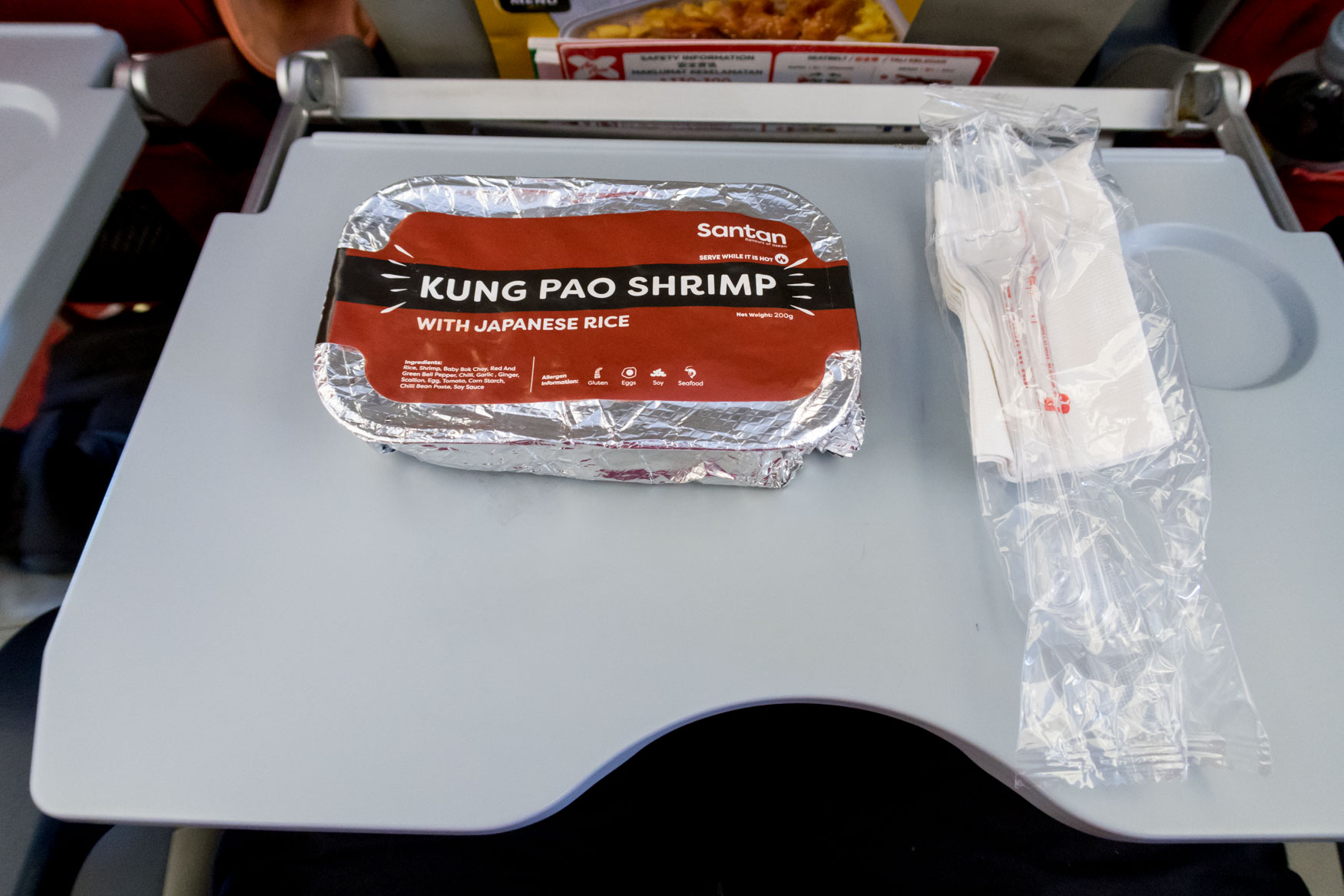 AirAsia X Kung Pao Shrimp