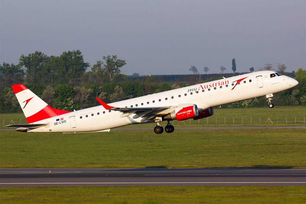 Austrian Welcomes Last Embraer ERJ-195, Only Four Fokker 100s Left in Fleet
