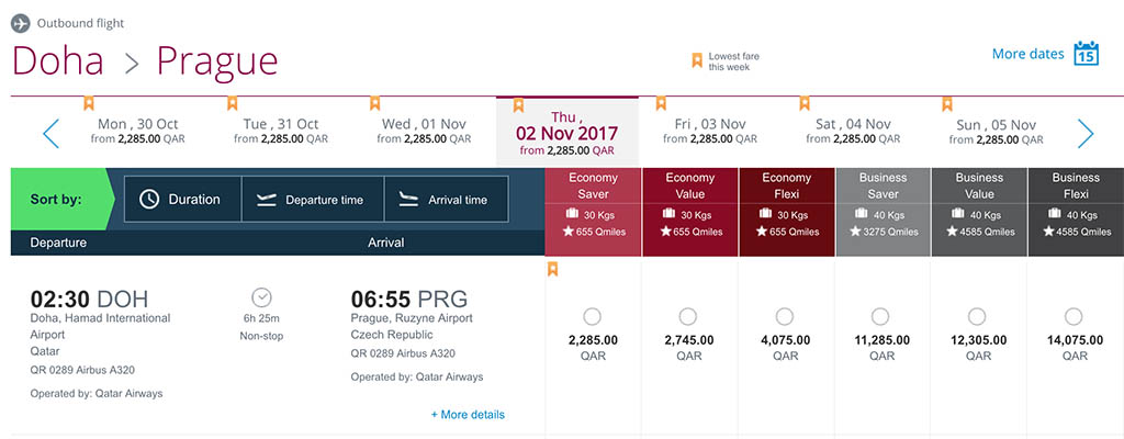 Qatar Airways Prague Booking