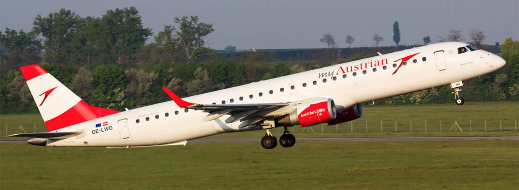 Austrian Welcomes Last Embraer ERJ-195, Only Four Fokker 100s Left in Fleet