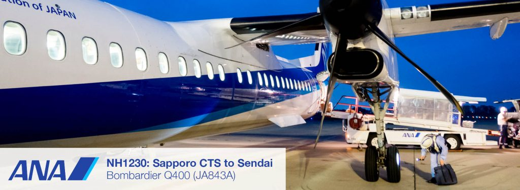Flight Report: ANA Wings Dash 8-Q400 from Sapporo CTS to Sendai