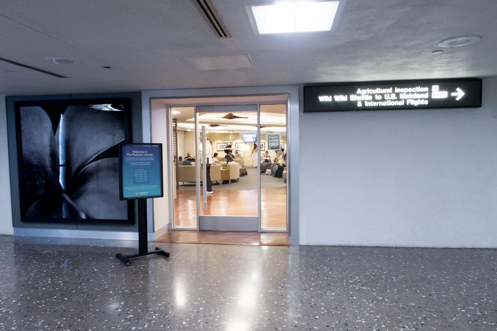 The Plumeria Lounge Entrance