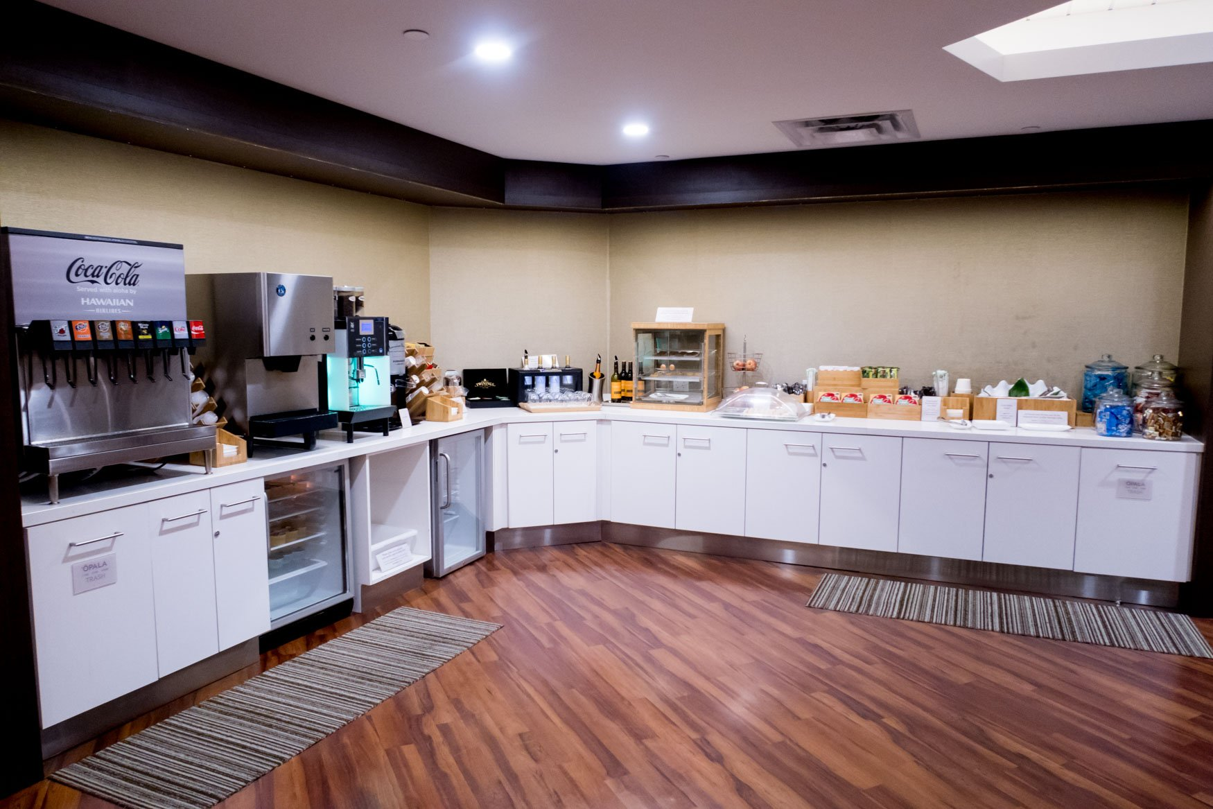 Hawaiian Airlines Plumeria Lounge Buffet Spread