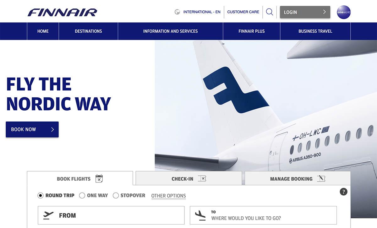 Finnair Website