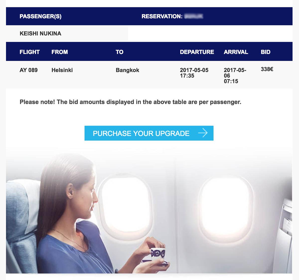 Finnair Purchase Bid