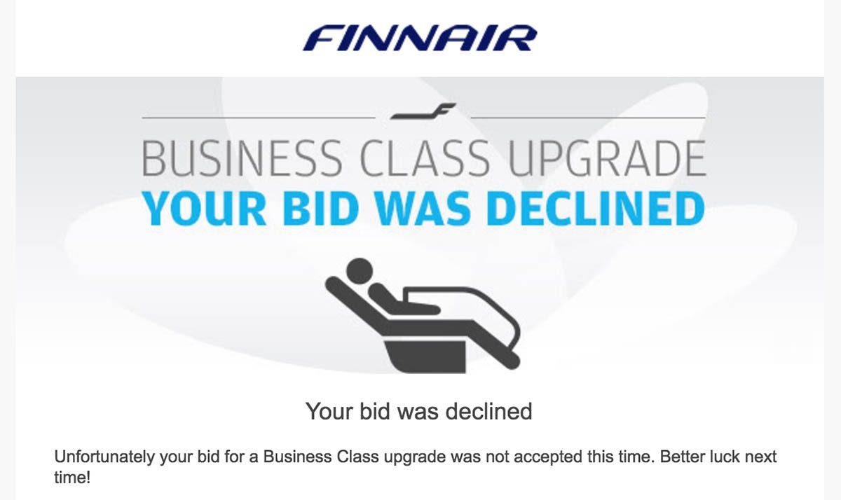 Finnair Bid Declined