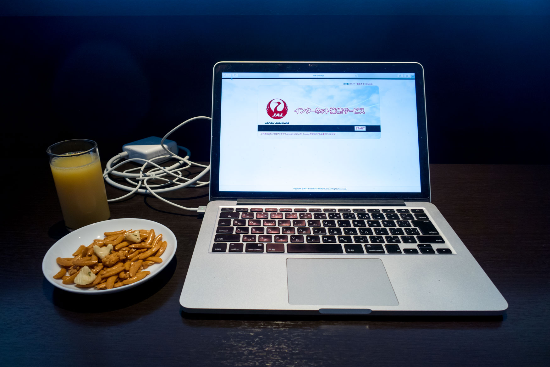 JAL Sakura Lounge Internet