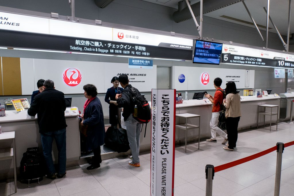 JTA Japan Transocean Air Check-in in Osaka