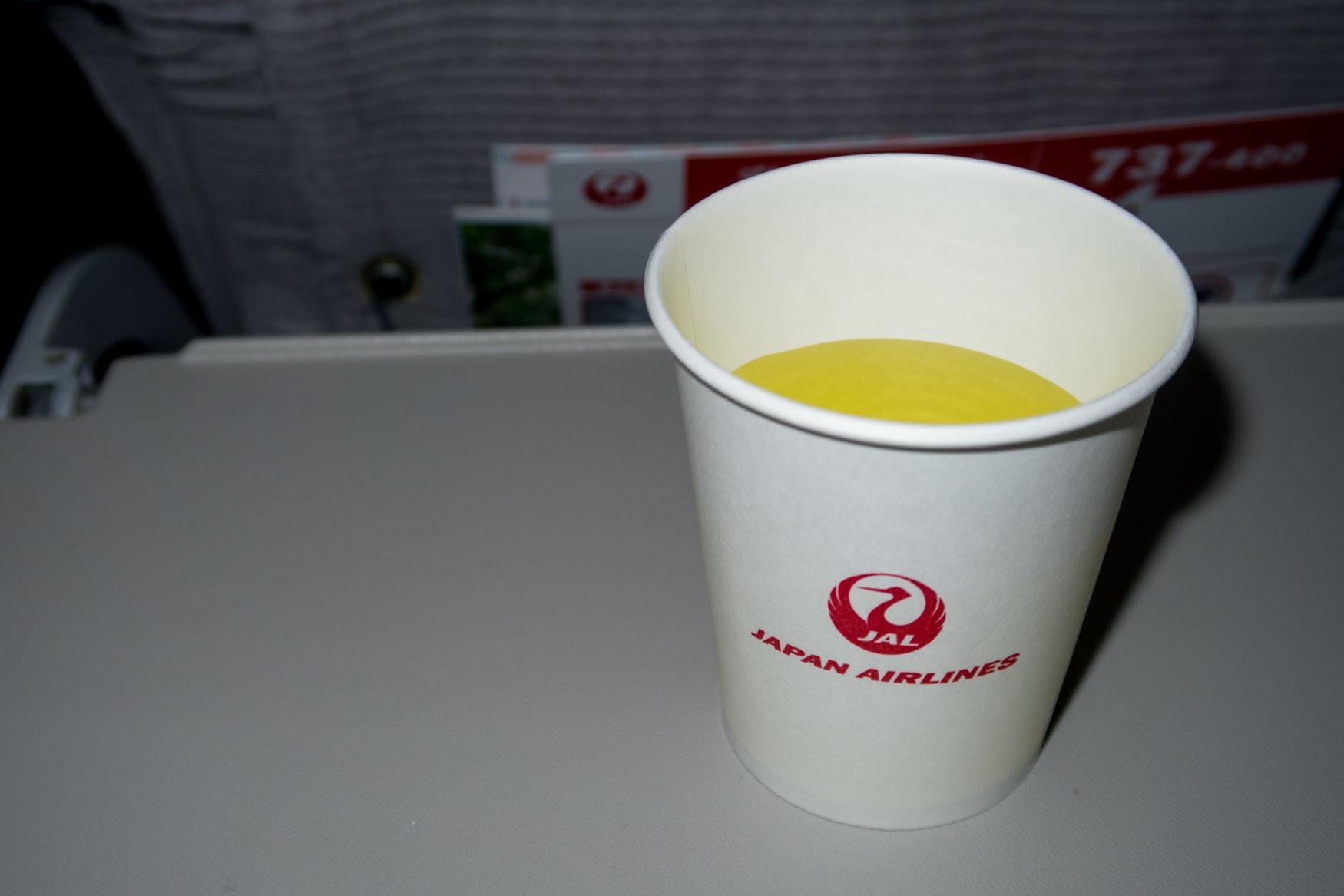 Japan Airlines Kiwi Juice