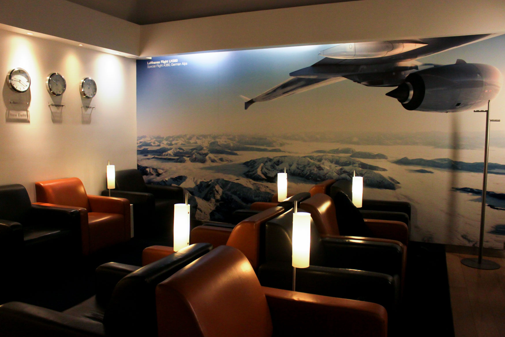 Lufthansa Lounge Delhi Seating