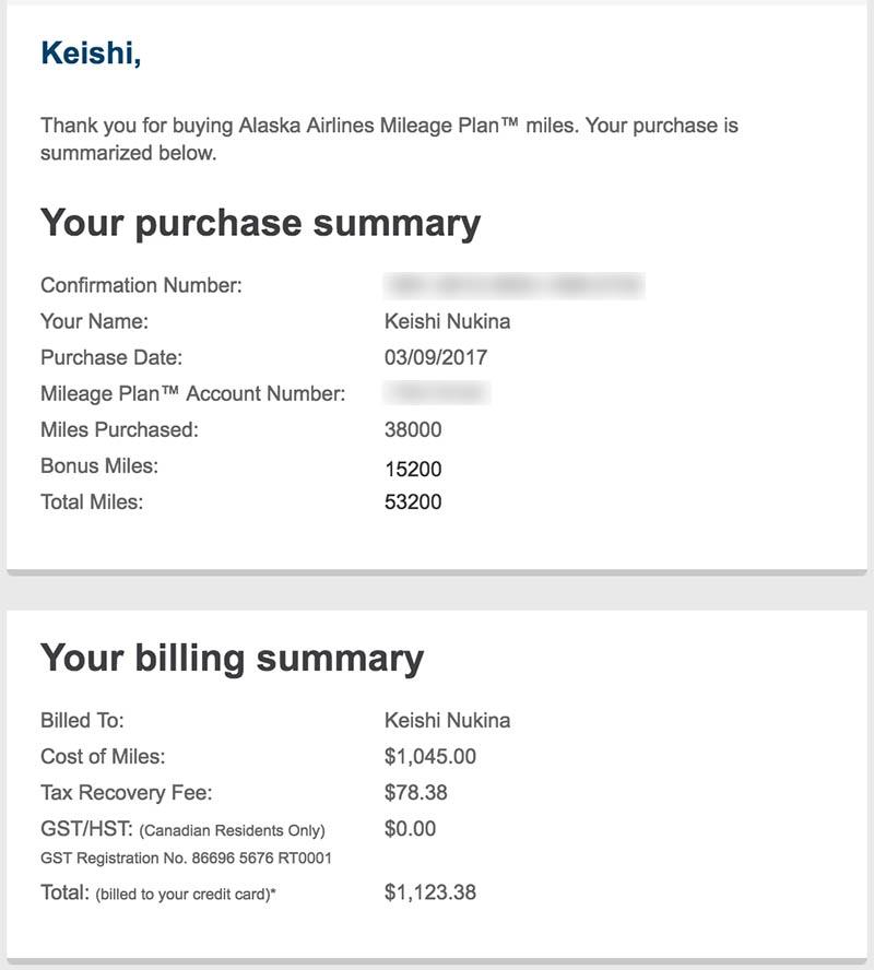 Alaska Airlines Buy Miles