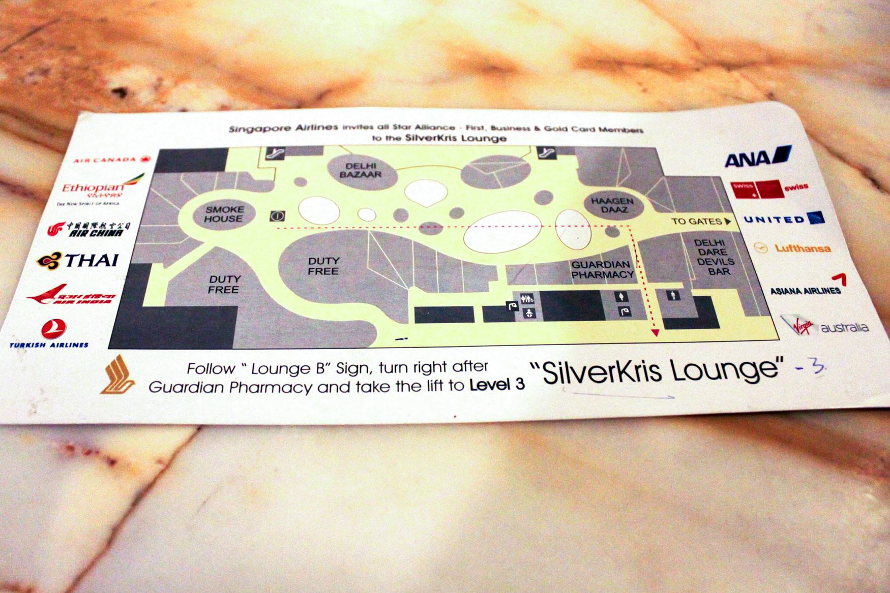 SilverKris Lounge Delhi Location