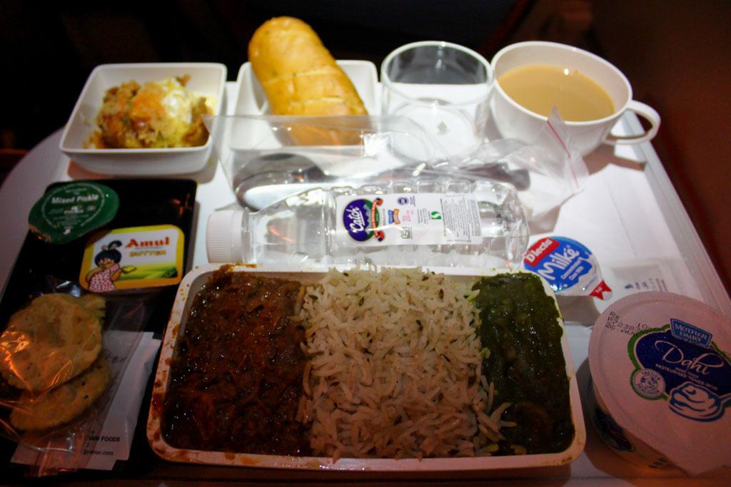 Singapore Airlines Premium Economy Meal
