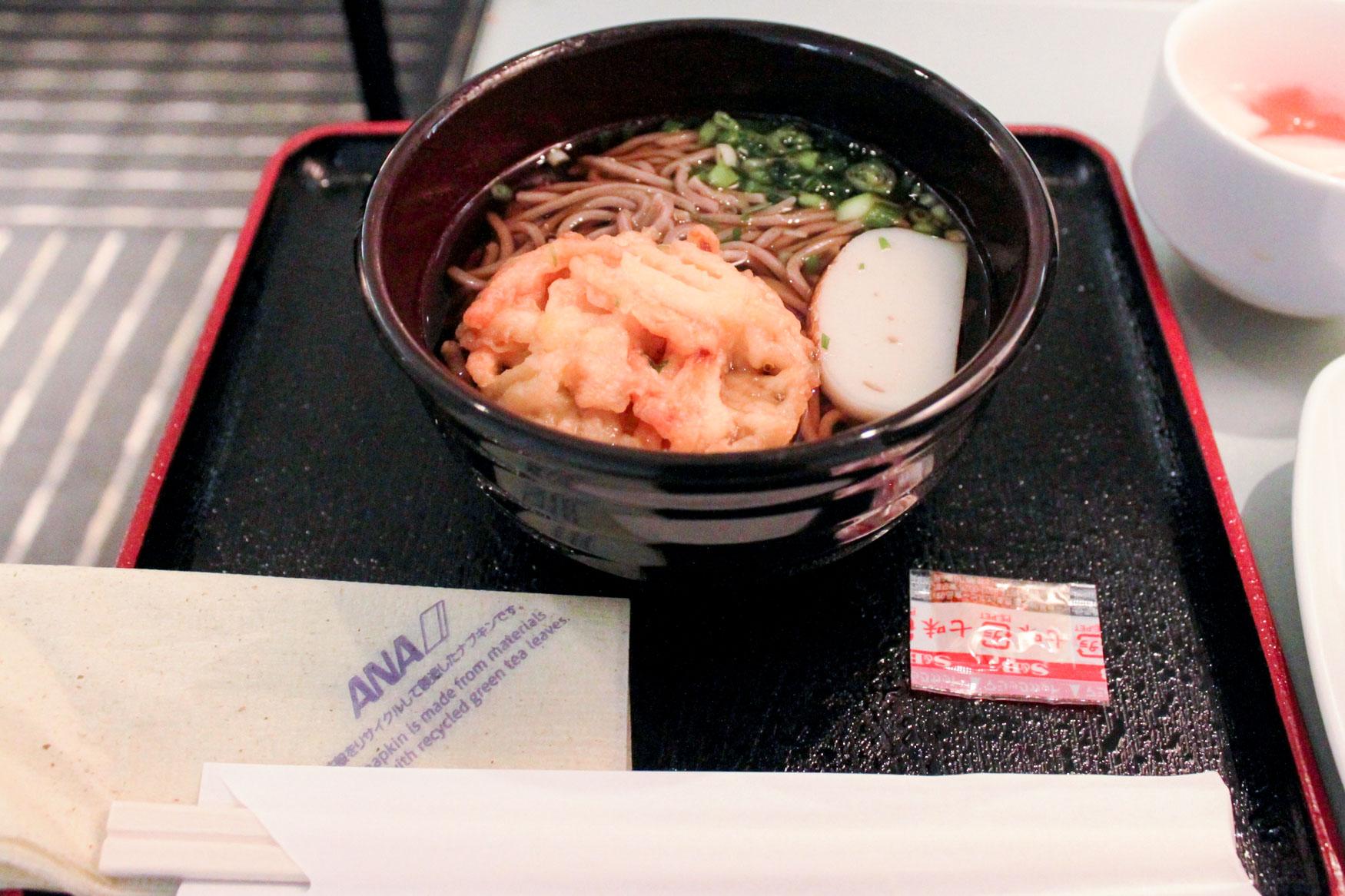 ANA Lounge Tokyo Narita Soba Noodles