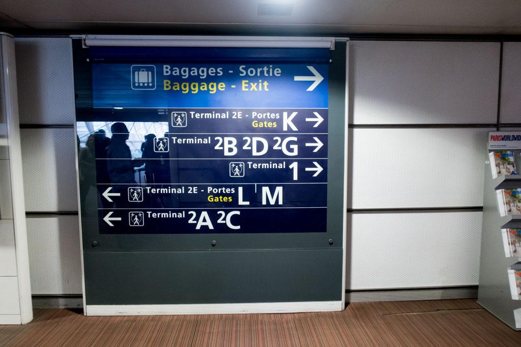 Transferring at Paris CDG