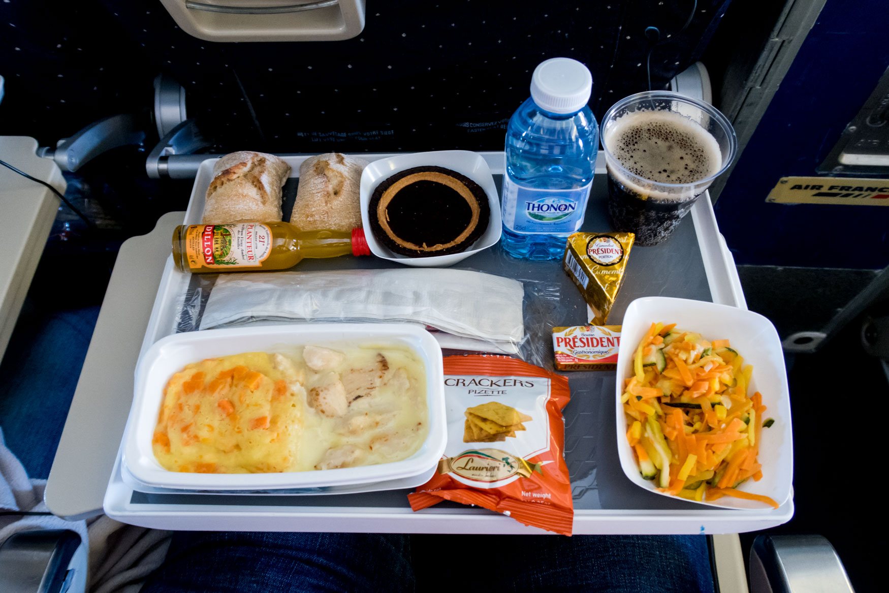 Air France Economy Class Meal