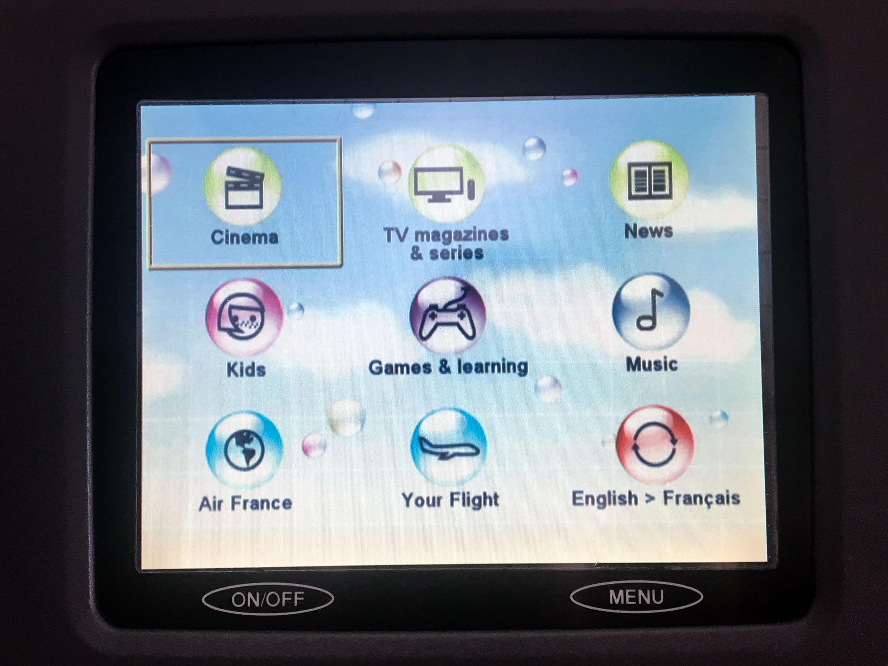 Air France IFE