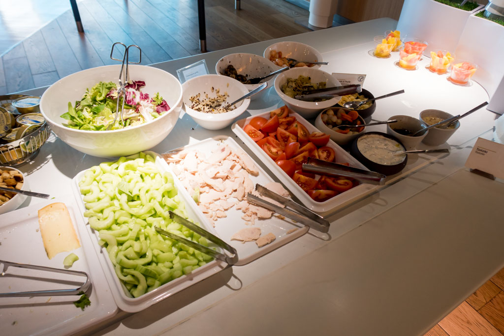 Air France Business Class Lounge Salads