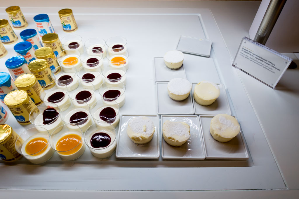 Air France Business Class Lounge Desserts