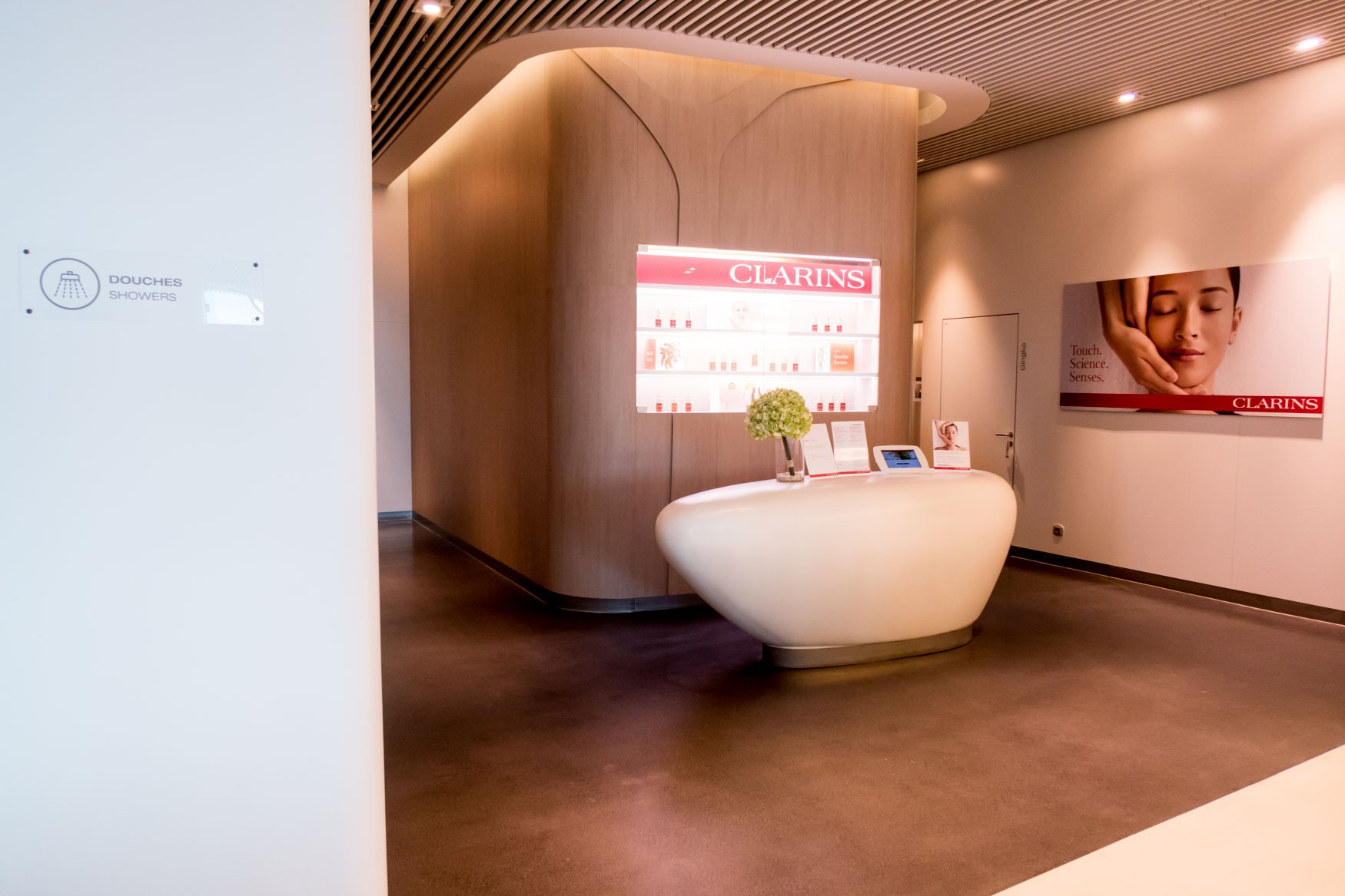 Clarins Spa in Air France Business Class Lounge CDG Terminal 2E Hall M