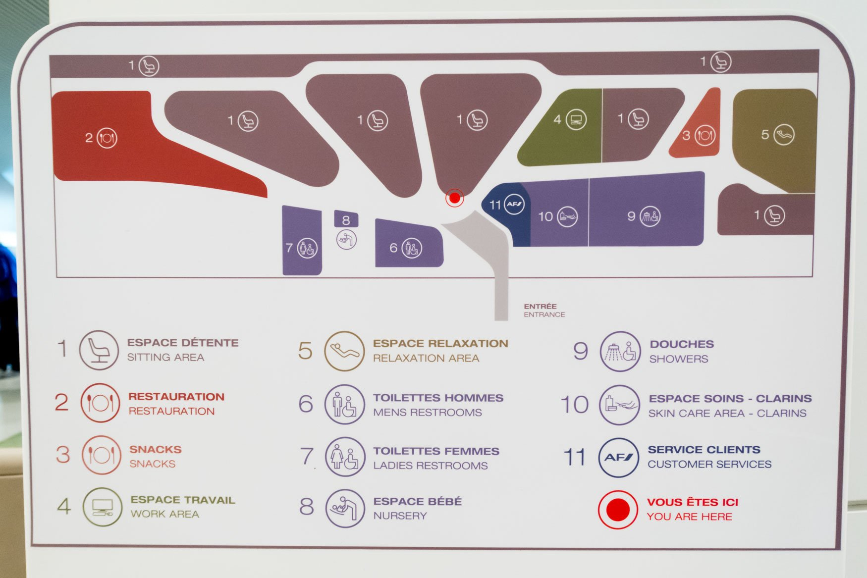 Air France Salon Lounge Terminal 2E Concourse M Map