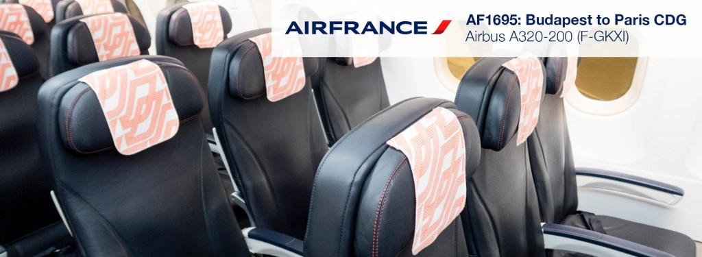 Flight Review: Air France A320 Economy Class from Budapest to Paris CDG