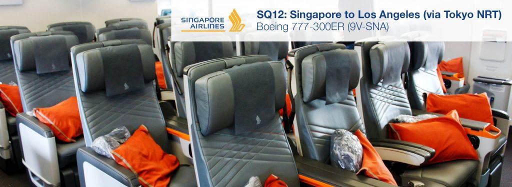 Flight Review: Singapore Airlines 777-300ER Premium Economy from Singapore to Los Angeles via Tokyo NRT