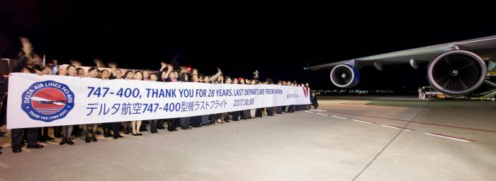 """Delta Air Lines 747 Said """"Sayonara"""" to Japan as It Operated Its Last Flight Out of Tokyo Yesterday"""