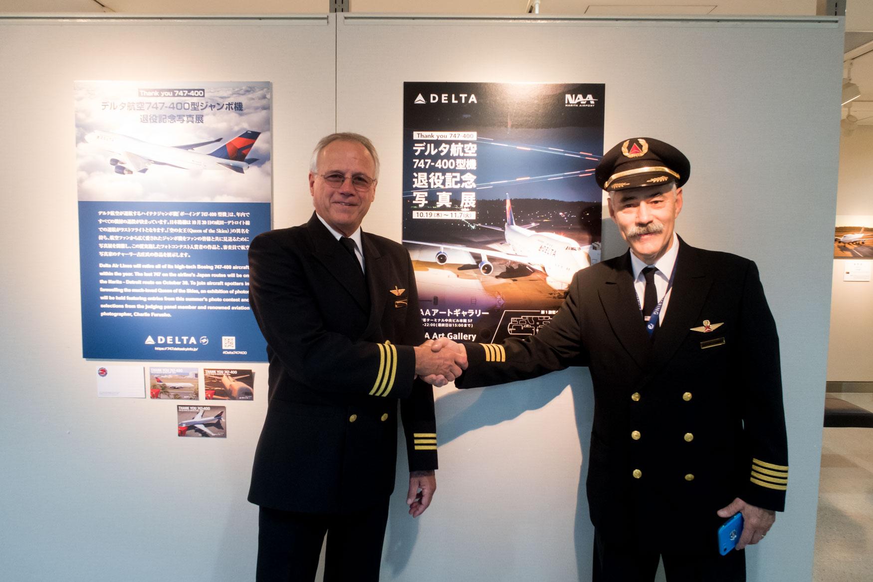 Delta Air Lines Last 747 Out of Japan Pilots