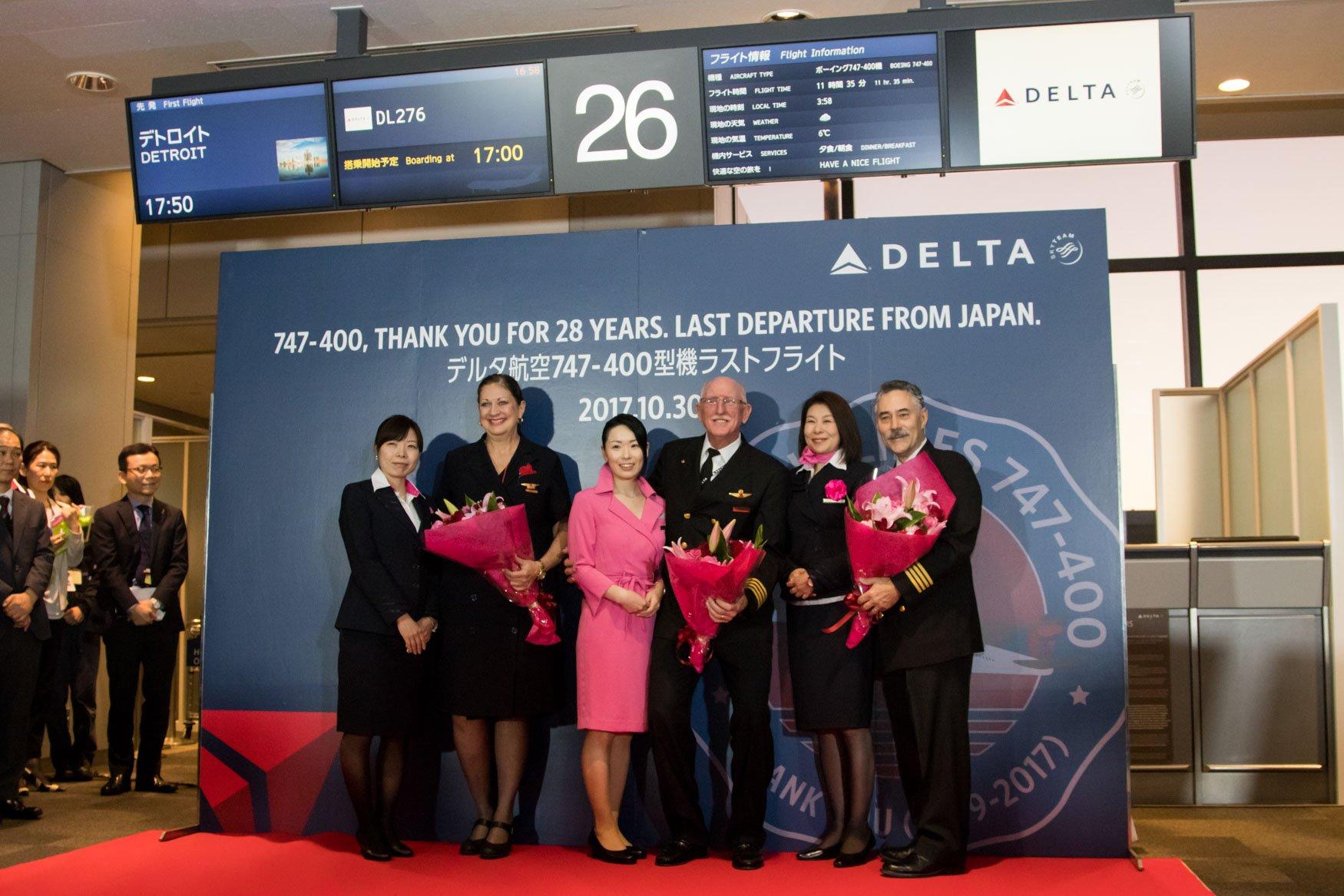 Delta Air Lines 747 Japan Farewell