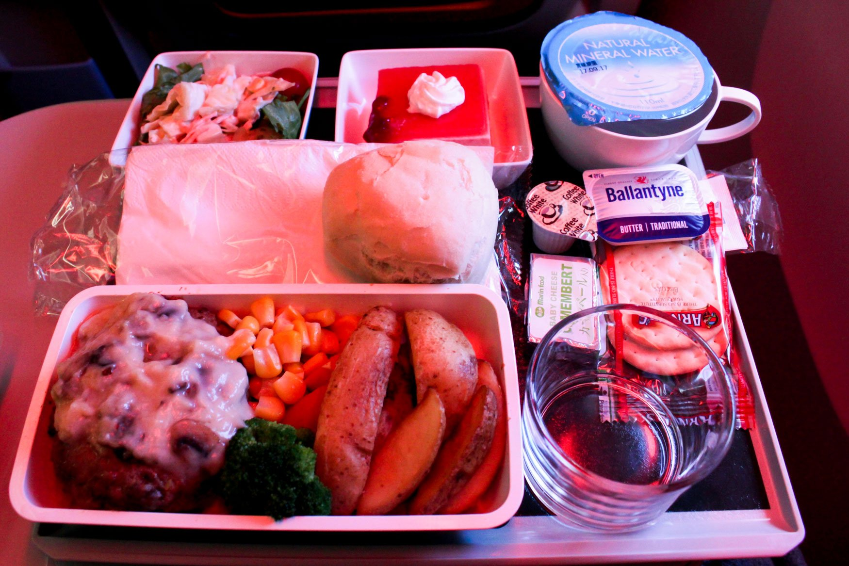 Singapore Airlines Hamburg Beef Meal