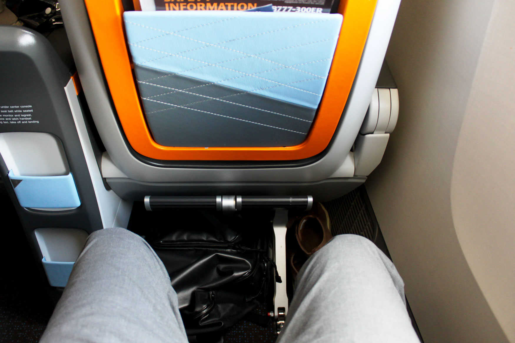 Singapore Airlines 777-300ER Premium Economy Class Seat Pitch