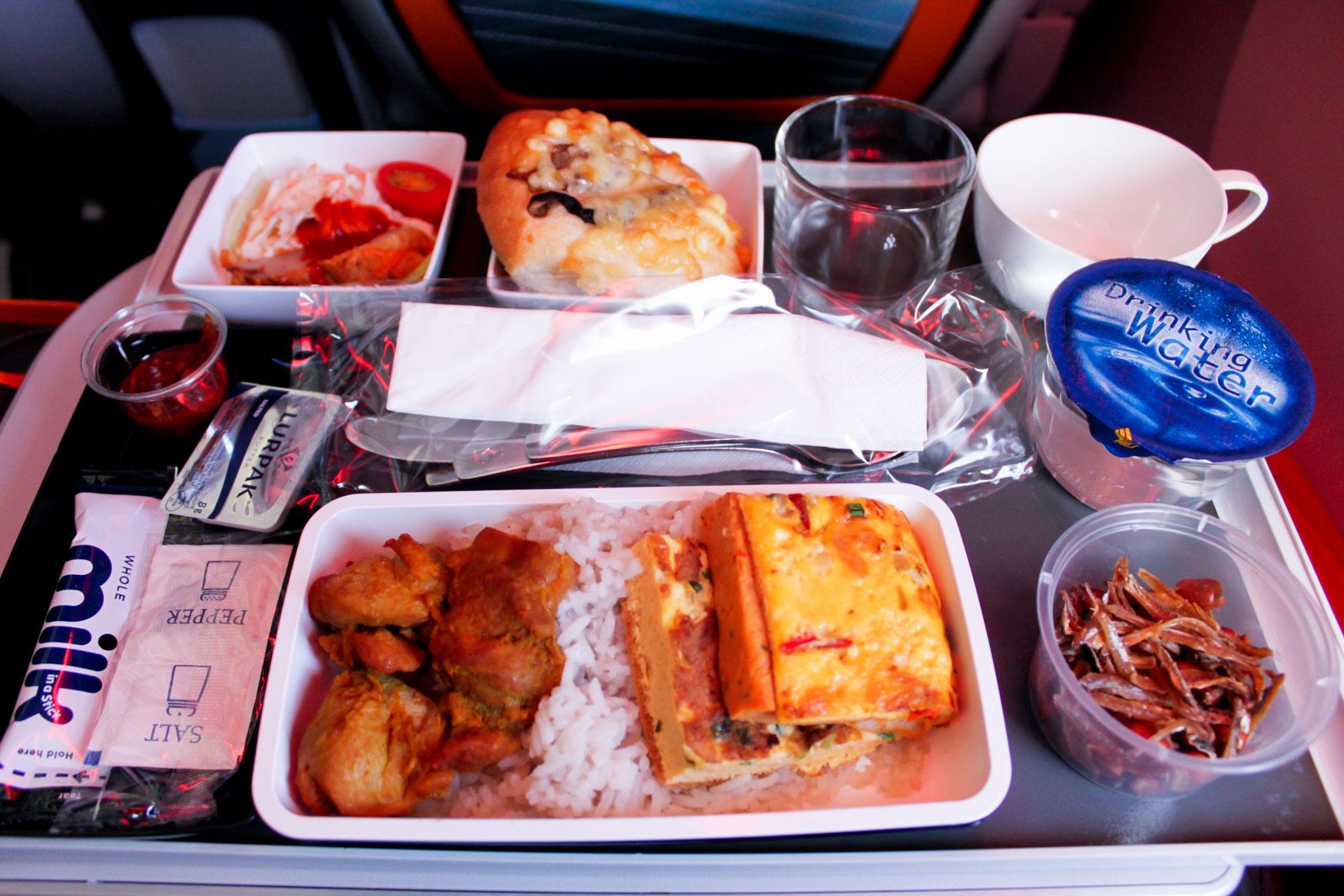 Singapore Airlines Nasi Lemak Premium Economy Meal