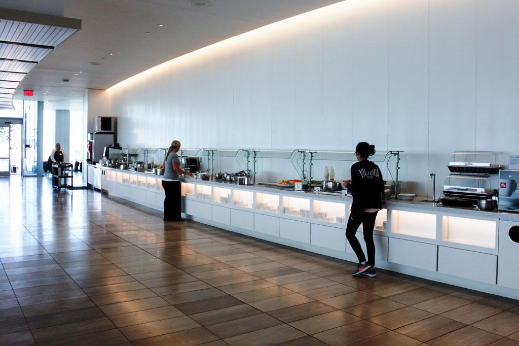 United Club Los Angeles Food Area