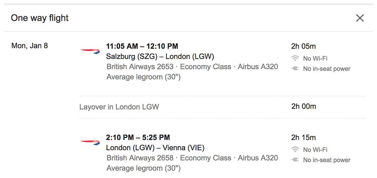 Short Itinerary