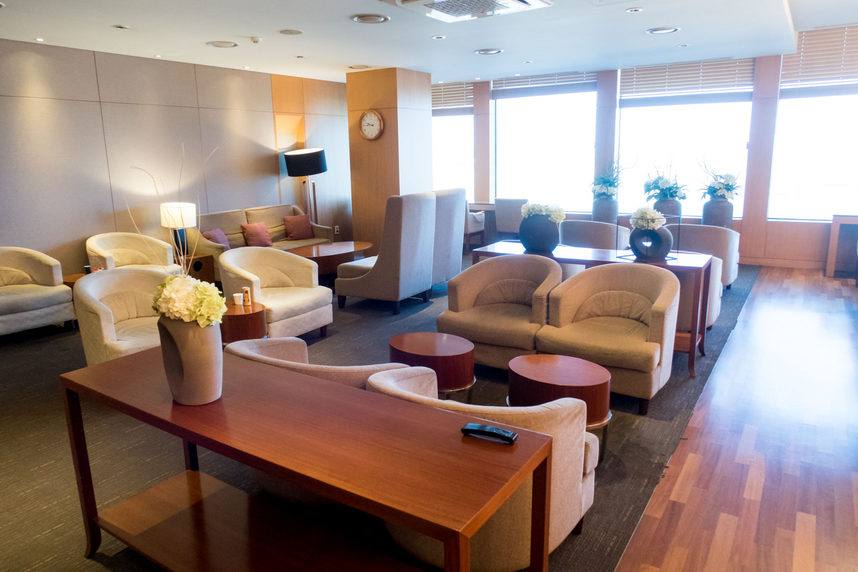 Seating in Asiana Lounge at Jeju Airport