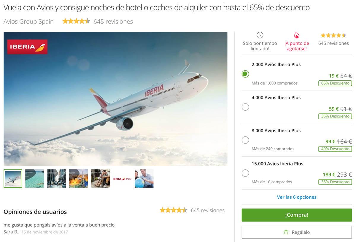 Iberia Plus Avios Miles Promotion