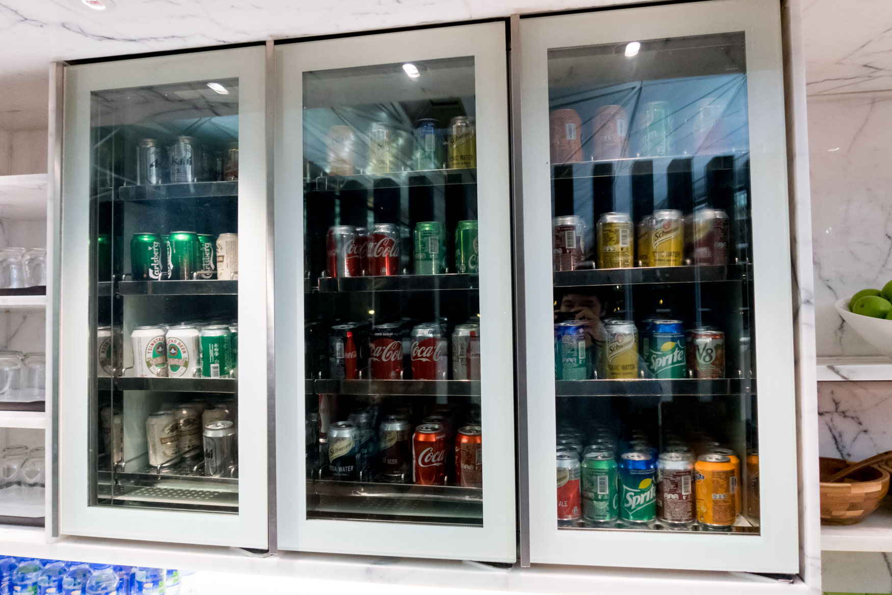 "Cathay Pacific ""The Wing, Business"" Canned Soft Drinks and Beer"