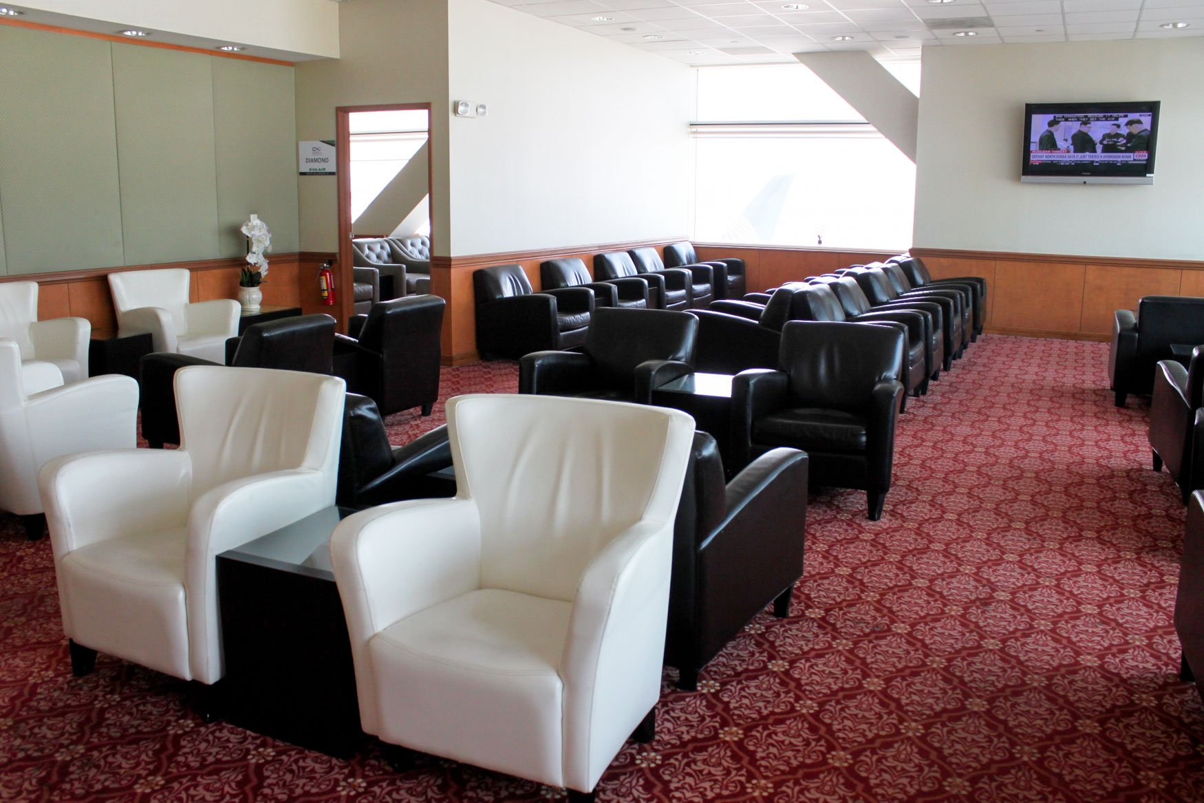 EVA Air Evergreen Lounge San Francisco Seating