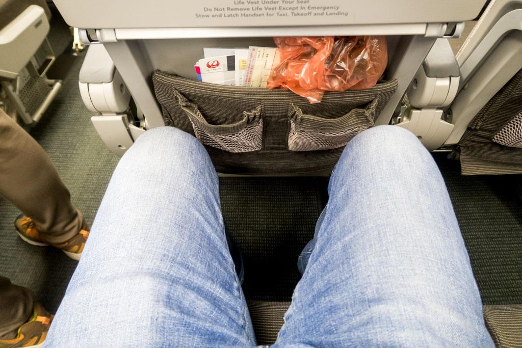 JAL 767 Legroom