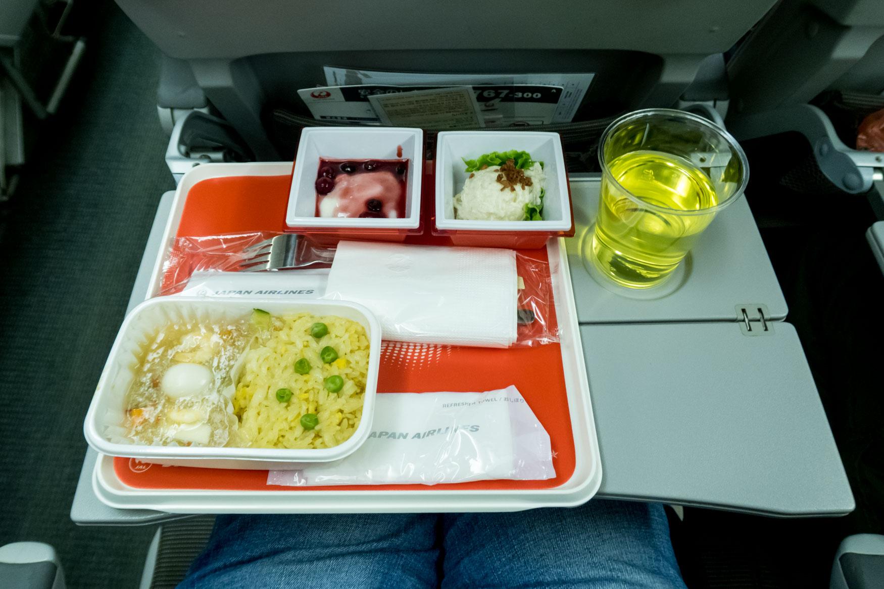 JAL Tokyo Seoul Meal