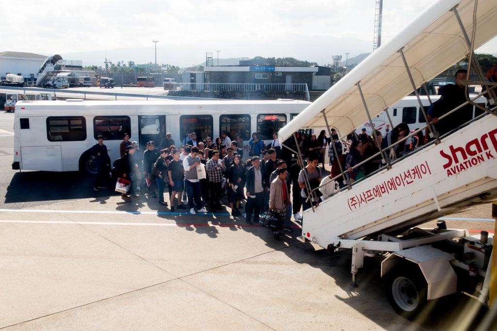 Passengers Boarding the Flight