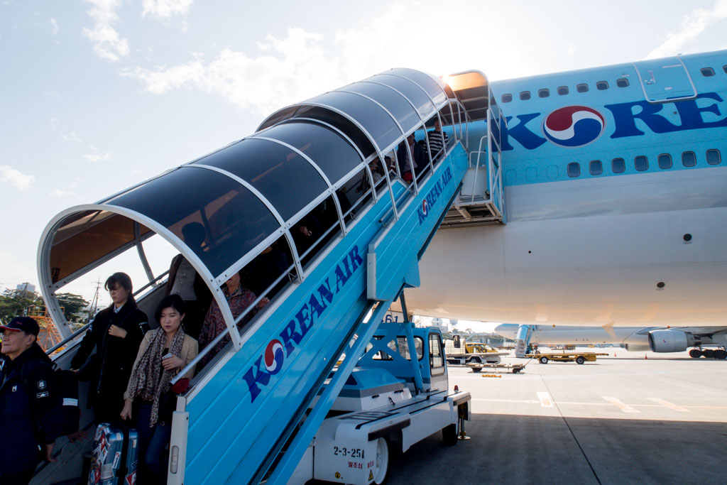 Korean Air 747 in Jeju