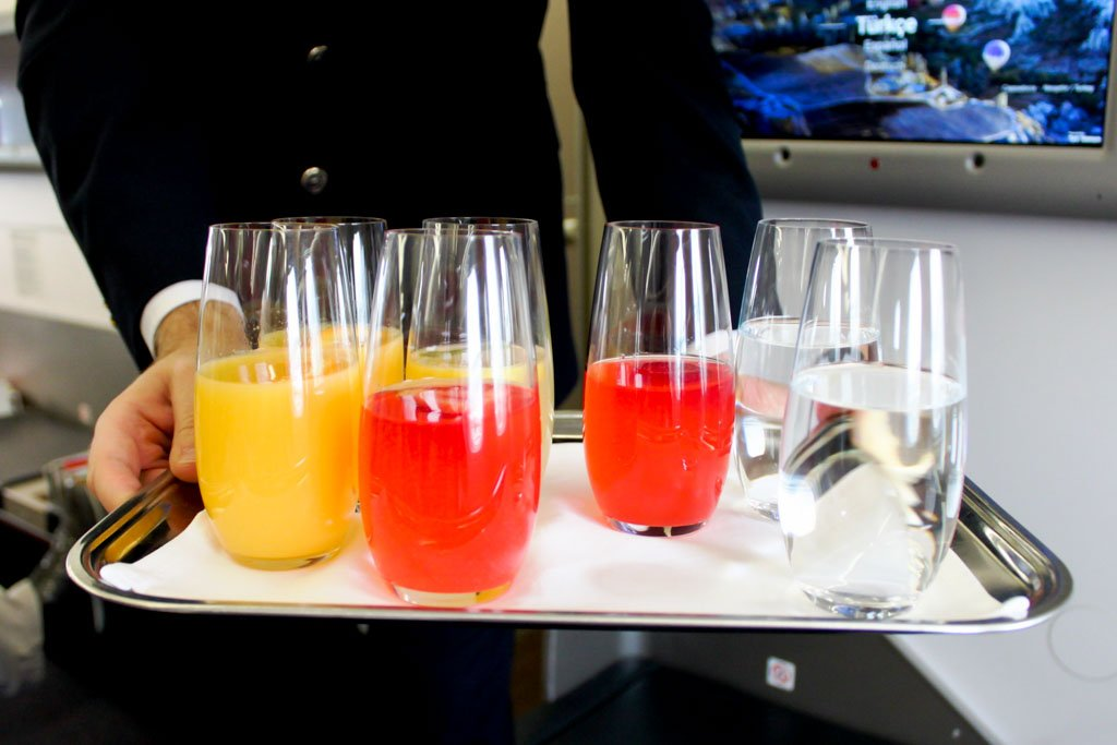 Turkish Airlines Welcome Drink