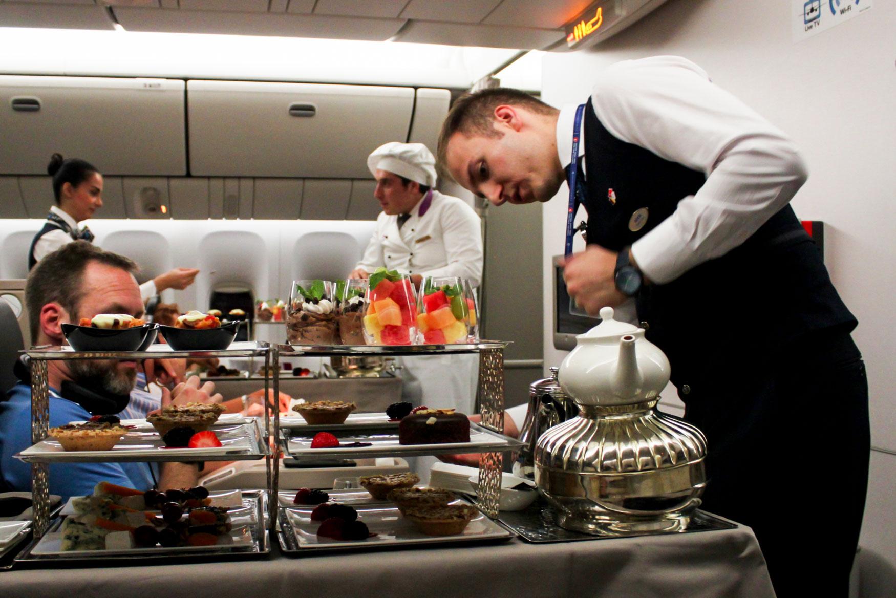 Turkish Airlines Business Class Dessert Cart